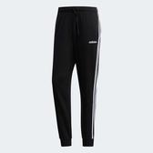 L- adidas ESSENTIALS 3-S 男裝 長褲 休閒 經典 縮口 三條線 黑 DU0468