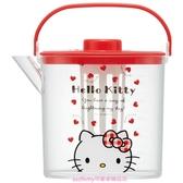 asdfkitty*KITTY耐熱泡茶壺/冷水壺-1.2L-冷泡茶.熱泡茶.麥茶都好用-日本正版商品
