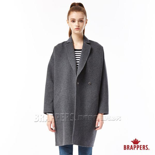 手工縫製繭形毛料大衣