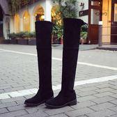 秋冬新款歐美百搭粗跟顯瘦過膝長靴【熊貓本】