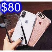 鑽石紋菱形蘋果手機殼 iphone7/8/X手機殼TPU防摔氣囊軟殼 透明水感