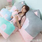 床頭靠枕 可愛蝴蝶結枕頭床頭靠墊沙發大靠背軟包公主榻榻米床上靠枕可拆洗 限時搶購