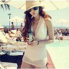 je bikini 連身泳衣 夏日甜美 繞頸深V 夏日風情  泳衣泳裝溫泉比基尼 【175j】