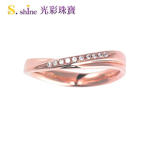 【光彩珠寶】婚戒 日本18K金結婚戒指 女戒 玫瑰珍愛II
