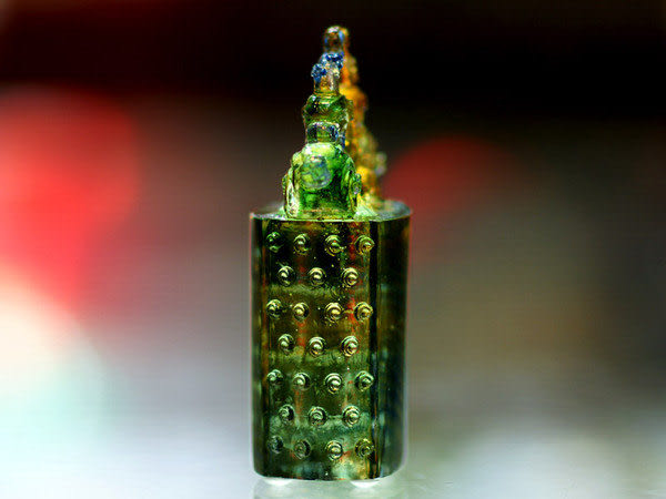 鹿港窯~居家開運水晶琉璃文鎮【雙龍】附古法制作珍藏保證卡◆免運費送到家