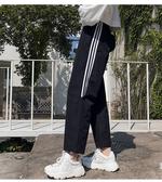 休閒運動褲女裝秋裝束腳運動褲寬松百搭學生顯瘦潮嘻哈倫休閑褲M028紅粉佳人
