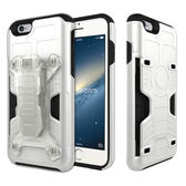 Phonefoam iPhone6/6s 4.7吋腰夾式插卡吸震保護殼(白)