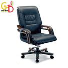【GD綠設家】艾亞 時尚黑半牛皮多功能辦公椅/主管椅