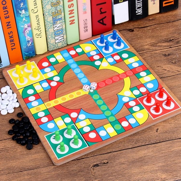 飛行棋五子棋二合一棋桌面游戲童益智玩具棋