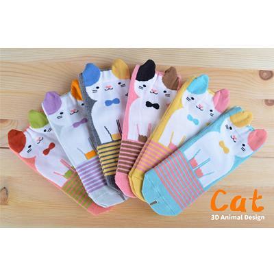 【佳兒園婦幼館】PEIBOU 貝柔 趣味止滑童襪-瞇瞇貓(HP5050)