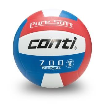 超軟橡膠排球(3號球) 紅/白/藍
