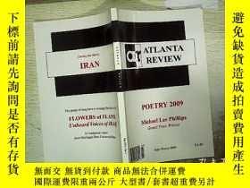 二手書博民逛書店ATLANTA罕見REVIEW POETRY 2009Y1808