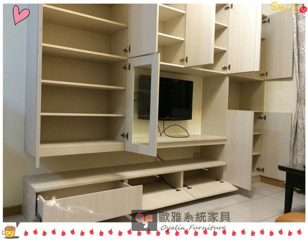 【歐雅系統家具】電視牆&櫃 設計 原價77931 特價54672