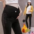 熱賣孕婦長褲 孕婦牛仔褲秋冬外穿加厚加絨打底褲時尚洋氣孕婦褲子冬裝潮媽長褲 coco
