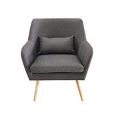 【JUSTBUY】納卡北歐原創單人沙發椅(附靠枕)鐵灰色