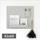 牆面收納 收納壁板 收納牆 牆面裝飾【G0025】inpegboard洞洞板42X60X1.5CM 韓國製 收納專科