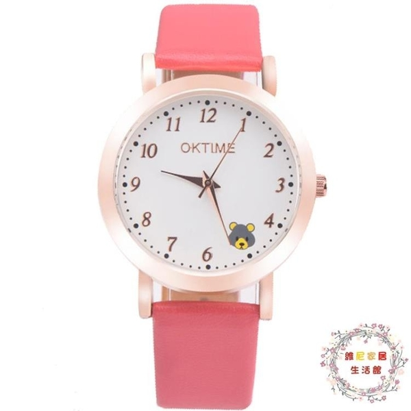 正韓中小學生手錶女童防水電子石英錶兒童手錶女孩男孩可愛卡通錶【限時八折】