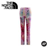 【The North Face 女 SCafe內搭褲 覆盆莓紅印花】NF00CE2G/內搭褲/運動褲/慢跑褲