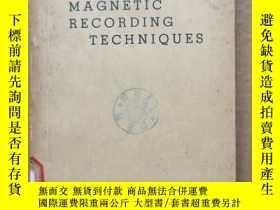 二手書博民逛書店magnetic罕見recording techniques(P417)Y173412