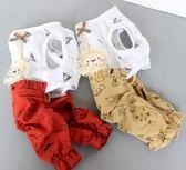 四腳衣狗狗衣服夏裝薄款寵物幼犬服裝