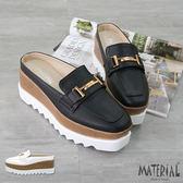 厚底鞋 金屬裝飾後空鬆糕厚底鞋 MA女鞋 T5265