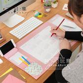 滑鼠墊 2018款正韓文具大滑鼠墊日程錶桌面墊子超大加厚辦公桌墊可愛家用【紅人衣櫥】
