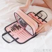 化妝包手提洗漱包簡約便攜多功能收納盒隨身少女心化妝包   歌莉婭