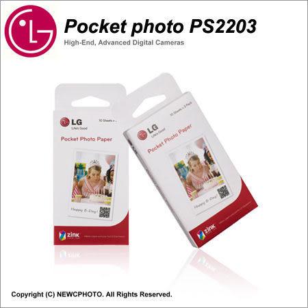 促銷LG Pocket Photo PD251 PD239 PD269相紙PS2203口袋相印機專用相片紙30張