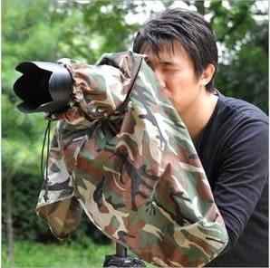 我愛買#韓國製造Matin單反相機罩叢林數位迷彩雨衣M-7092(人可躲雨)相機偽裝罩偽裝套適打鳥拍鳥