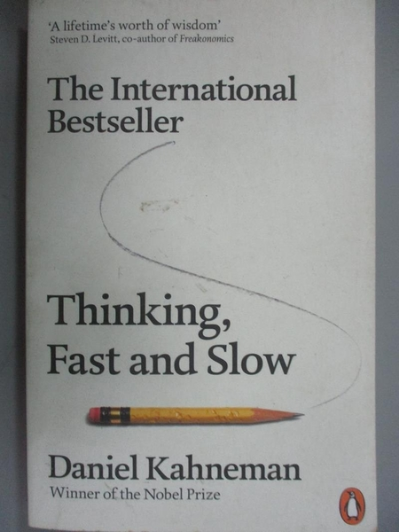 【書寶二手書T6/哲學_JRT】Thinking, Fast and Slow_Daniel Kahneman