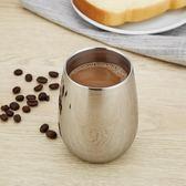 加厚日式圓形咖啡茶杯304不銹鋼大肚水保溫杯耐摔手杯牛奶杯餐飲杯【新年交換禮物降價】