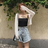 針織衫女夏季披肩冰絲薄款外搭空調衫長袖防曬開衫短款上衣配裙子 【ifashion·全店免運】