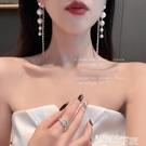 耳環 耳環女2021年新款潮耳墜氣質高級感大氣網紅流蘇輕奢高級珍珠耳飾 智慧e家 新品