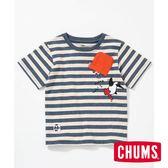 CHUMS 日本 童 Booby Hang On 短袖T恤 深藍/米色-CH211095N005