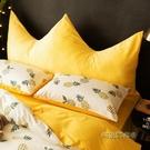 ins風皇冠床上靠枕床頭板軟包雙人沙發臥室網紅靠墊可拆洗大靠背MBS「時尚彩紅屋」