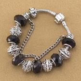 串珠手鍊-水晶飾品歐美個性黑色系列女配件73kc251【時尚巴黎】