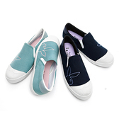 PLAYBOY 清新詩篇 電繡兔頭舒適懶人鞋(Y5708)