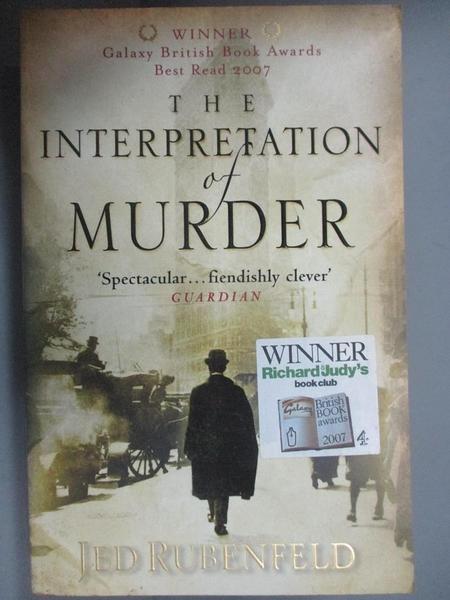 【書寶二手書T7/原文小說_HCF】The Interpretation of Murder_JED RUBENFELD