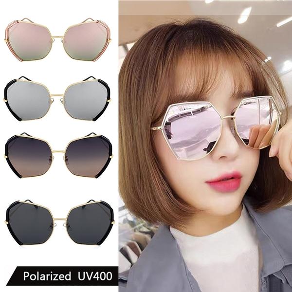 偏光太陽眼鏡 韓版大框墨鏡 時尚復古水銀鏡面 高品質太陽眼鏡 抗紫外線UV400