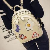 後背包-印花時尚可愛學生鉚釘女雙肩包4色73fd61【時尚巴黎】
