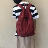 後背包 自制帆布後背包百搭女日系簡約旅行ins男女背包高中學生書包 夏季上新