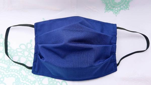 【2004122】手工布口罩 (藍色)1入 成人耳掛式 上開式可自行放入濾材 台灣工廠自產自銷