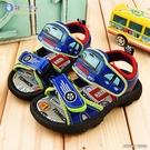 童鞋城堡-汽車造型涼鞋 LED電燈涼鞋 Tomica多美汽車 TM3651-藍