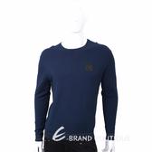 VERSACE 皮革標設計深藍色圓領針織衫 1710579-34