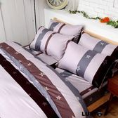 LUST  寢具~紫色星辰~100 精梳純棉、單人3 5 尺床包枕套組不含被套~ 製~