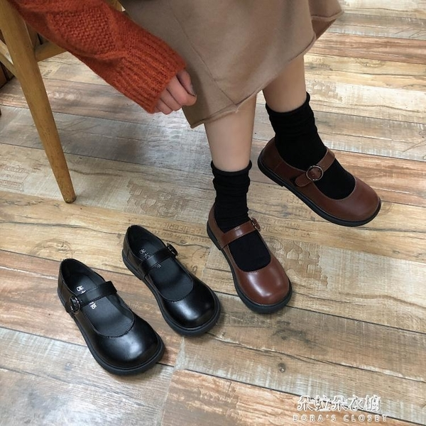 娃娃鞋 2019夏季洛麗塔日系軟妹小皮鞋學生原宿復古大頭鞋可愛娃娃鞋女鞋 朵拉朵YC