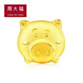 豬排博士黃金耳環(單支) 周大福 TSUM TSUM系列