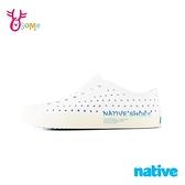 native水鞋 男女鞋 奶油頭 洞洞鞋 休閒鞋 情侶鞋 親子鞋 懶人鞋 JEFFERSON PRINT M9408#白色◆奧森