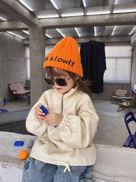 兒童帽 春季兒童針織毛線帽女童時尚韓版套頭帽子男休閒保暖護耳潮【快速出貨八折下殺】