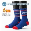 Footer 除臭襪 ZH166 L號 XL號 突破界線運動氣墊襪 局部厚 6雙超值組
